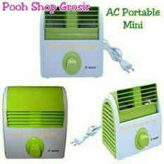 Kipas Angin Mini / Desk Mini Fan Model Ac Portable Mini Twin Dog - 93B77C