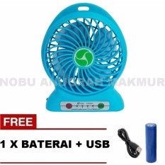 Diskon Kipas Angin Mini Hand Fan Cas Charge Portable Rechargable Free Baterai Usb Cable Warna Random