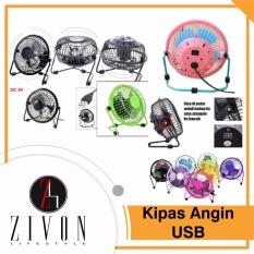 Jual Promo Kipas Angin Usb Besi Meja Duduk Mini Portable Cooler Powerbank Kq01 Di Bawah Harga
