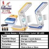 Kipas Angin Lampu Emergency 20 Led Lipat Mitsuyama Ms 5532 Diskon Indonesia