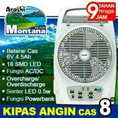 Kipas Emergency Lampu Senter Powerbank Arashi Montana AR 228 Multi Fungsi