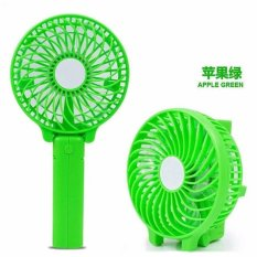Kipas Handy Mini Fan Lipat Portable Rechargeable Quality Brand - Hijau