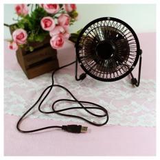 Kipas Meja / Kipas Angin Mini USB Portable Fan Stainless Steel Mini Compact Design