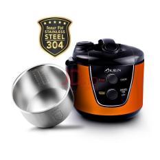 KIRIN KRC 389 Rice Cooker 2 liter Panci Luar Dalam Stenlies - ORANGE