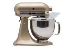 KitchenAid 5KSM150PSECZ Artisan Series 5-Quart Tilt-Head Stand Mixer - Golden Nectar freeKitchenAid FGA Food Grinder Attachment
