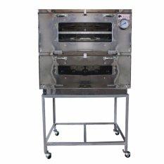 Kiwi - Oven Gas Stainless Steel Ukuran 60X55cm - Perak