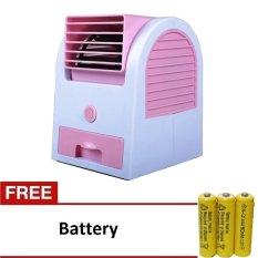 Jual Beli Kokakaa Mini Ac Cooling Fan Portable Pink Gratis Baterai 3 Buah Baru Jawa Barat