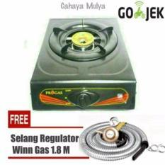Harga Kompor Gas 1 Tungku Progas Free Selang Regulator Winn Gas Sni Yang Murah