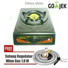 Kompor Gas 1 Tungku Progas Free  Selang Regulator  winn gas SNI