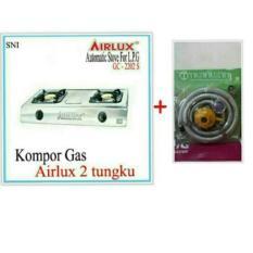 KOMPOR GAS 2 TUNGKU AIRLUX +SELANG TRISONIK