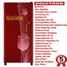Kulkas 1 Pintu Polytron 18 Ktr Belezza 2 Glass Door 180 Liter - 7B7E7D