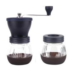 KuRun Manual Coffee Grinder Mill, Kobwa Adjustable Premium Keramik Burr Tangan Penggiling Kopi dengan Stainless Steel, Kaca Yang Diperkaya untuk Lebih Segar Kopi-Intl