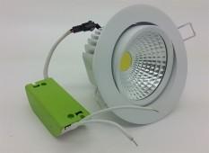 Lampu Ceiling Downlight LED COB 7 watt Adjustable ( Cahaya Putih )
