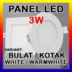 Lampu Downlight Led Panel Ceiling Plafon 3 Watt Bulat Kotak Warm/White - 3575D9