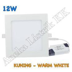 Lampu Downlight Panel Led 12W Kuning Kotak 12Watt Tipis Plafon Rumah - 56A939