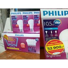 Lampu Led Philips 10 W 10.5 W 10-5 Watt - Paket Isi 4 -Beli 3 Gratis 1 - 9C69cd