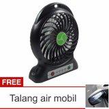 Beli Lanjarjaya Usb Mini Fan Kipas Angin Rechargeable Baterai 18650 Li Ion Hitam Talang Air Mobil Lanjarjaya