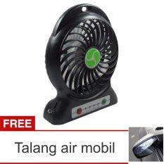 Beli Lanjarjaya Usb Mini Fan Kipas Angin Rechargeable Baterai 18650 Li Ion Hitam Talang Air Mobil Murah