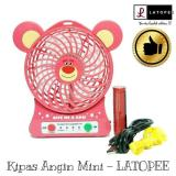 Harga Latopee Kipas Angin Mini Portable Serba Guna Usb Rechargeable Fan Fullset Murah