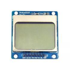 Lcd Module Nokia 5110 For Arduino White Backligh + Pin Header - 566Dd9