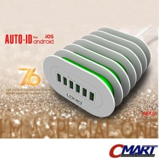 LDNio Adaptor Charger 6 Port USB Output 7A Adapter - LDN-A6702
