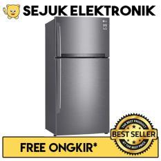 LG GN-H432HLHN Lemari Es / Kulkas 2 Pintu Inverter Linear Compressor - 437 Liter (JADETABEK ONLY)