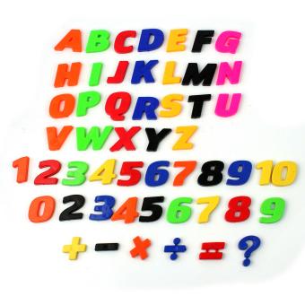 Harga preferensial Lgpenny 52 Pcs Magnet Warna-warni Huruf Alfabet Nomor Kulkas Anak-anak Pendidikan Set Mainan-Intl terbaik murah - Hanya Rp52.020