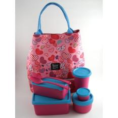 Lunch Box Set Model Tupperware Paling Murah - 56A7A3