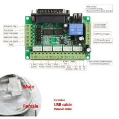 Mach3 Cnc 5Axis Controller Board With Optocoupler Isolation (C2B4) - C6d9bd
