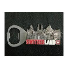 Magnet kulkas bukaan botol Switzerland souvenir dari negara Swiss