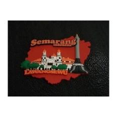 Magnet kulkas Lawang Sewu rubber - souvenir Semarang Indonesia