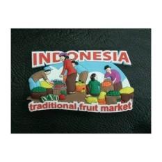 Magnet kulkas traditional fruit market souvenir negara Indonesia