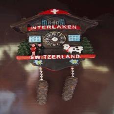 Magnet / tempelan kulkas Interlaken souvenir negara Switzerland