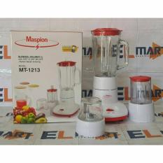 Maspion Blender Wet & Dry Mill Gelas Kaca 1L MT 1213 / Blender 3 In 1 / Blender Multifungsi
