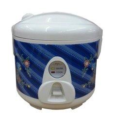 Maspion Magic Com, Rice Cooker, Magic Jar, Penanak Nasi 1 Liter 3in1 Batik – EX109B (Biru)