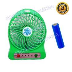 MAxxio Kipas Angin Mini Rechargeable & Usb Cable Bundle 5 inch - Hijau