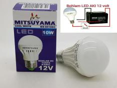 Merk MITSUYAMA 10W E27 LAMPU LED 12V DC LED ( LAMPU SOLAR CELL )