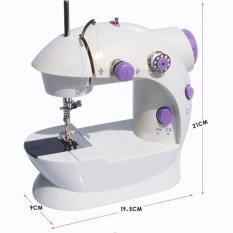 Mesin Jahit Portable Mini Type 202 ada Lampu / Mini Sewing Machine Portable Pedals With Adaptor
