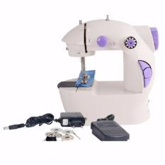 Mini Electric Portable Adaptor Pedal Sewing Machine Mesin Jahit Kecil Listrik Otomatis