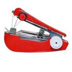 Mini Handheld Sewing Machine Mesin Jahit Tangan Manual - Red