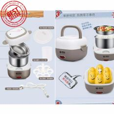 Harga Mini Rice Cooker Portable Multifunction Egg Boiler 2 Susun Lengkap