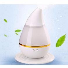 Pengharum ruangan Aroma Terapi dengan Lampu Tidur- Mini Ultrasonic Air Humidifier - White