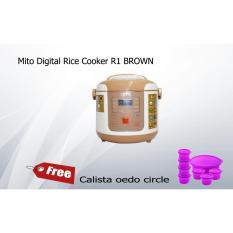 Mito Digital Rice Cooker R1 BROWN free Calista oedo circle-Murah dan Bagus