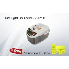 Mito Digital Rice Cooker R5 SILVER free Calista oedo circle-Murah dan Bagus