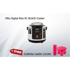 Mito Digital Rice R1 BLACK Cooker FREE Calista oedo circle-Murah dan Bagus