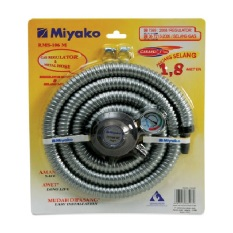 Harga Miyako Paket Selang Regulator Gas Rms 106M Silver Miyako Asli