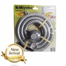 Miyako Paket Selang Regulator Gas RMS-206M - Silver