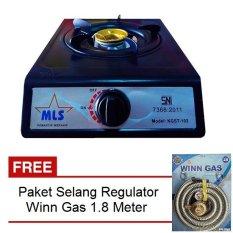 Ulasan Mls Kgst 102 Kompor Gas 1 Tungku Sni Hitam Gratis Paket Selang Regulator Winn Gas