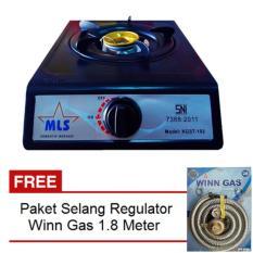 Model Mls Kgst 102 Kompor Gas 1 Tungku Sni Hitam Gratis Paket Selang Regulator Winn Gas Terbaru