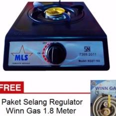 Harga Hemat Mls Kgst 102 Kompor Gas 1 Tungku Sni Hitam Gratis Paket Selang Regulator Winn Gas